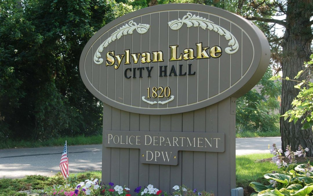 Sylvan Lake Police Department – Dimensionally Carved HDU with V carved letters Gold Leafed – Sylvan Lake Michigan