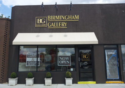 Birmingham Gallery Dimensionally Carved HDU Gold Leafed Wall Sign – Birmingham Michigan