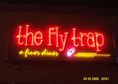 The Fly Trap Neon Sign Outdoor – Ferndale Michigan