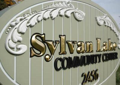 Sylvan Lake Dimensionally Carved HDU with V Carved Letters Gold Leafed – Sylvan Lake Michigan