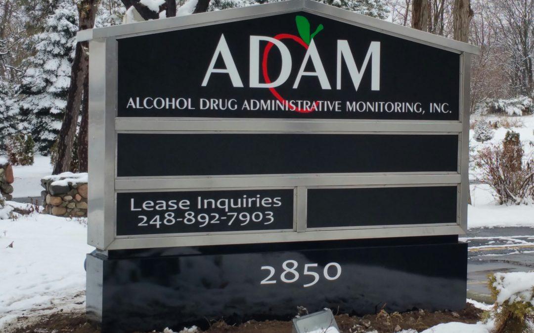ADAM Stainless Steel LED Illumination Multi-Tenant Ground Sign – Michigan